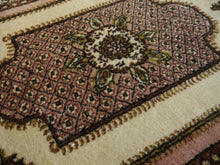 Load image into Gallery viewer, Oushak Vintage Turkish rug 7 x 4 ft Beige, Pink. Brown, Olive