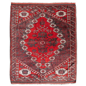 Bergama vintage rug worn to perfection 4.4 x 3.7 ft