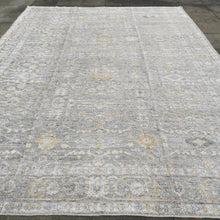 Load image into Gallery viewer, Heriz Vintage Style Rug Grey 14 x 10 ft Design: Traditional Karaja Heriz Design Size: 14 x 10 ft - 420 x 305 cm room size Condition: Perfect  Materials: Wool / Bamboo Silk