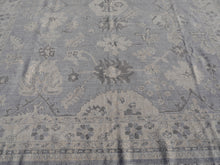 Load image into Gallery viewer, White Ziegler Oushak Rug 8 x 10 ft Grey Beige Vintage Look hand knotted Top modern interior carpet, hand-knotted wool. This beautiful rug was made using fine wool and pale muted colors. This gives the carpet a particularly decorative appearance. The wool used is optically matt and short cut to give the pile a used vintage look.  Design: Oushak Material: wool pile Production method: hand-knotted