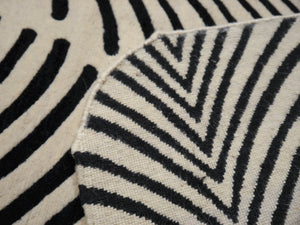 Art Deco Design Zebra Rug hand-knotted wool