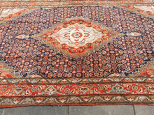 Load image into Gallery viewer, Bidjar rug vintage 8.4 x 5 ft Blue Orange