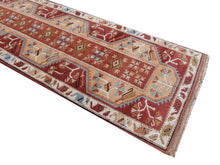 Load image into Gallery viewer, Hallway runner rug 9 x 2.7 ft hand knotted Turkish Melas