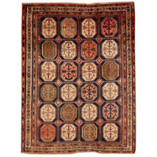 Load image into Gallery viewer, Afshari Vintage Rug 6.5 x 4.6 ft Blue Pink Beige worn to perfection