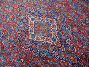 Kashan antique oversize rug 18 x 11 ft