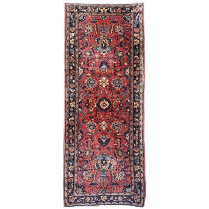 worn to perfection antique sarouk hallway runner 7 x 3 ft