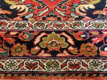 Load image into Gallery viewer, Mehraban vintage rug 7 x 5 ft Red Black worn to perfection