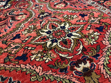 Load image into Gallery viewer, Mehraban vintage rug 7 x 5 ft Red Black