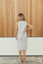 Load image into Gallery viewer, Kutha Grey Straight Skirt