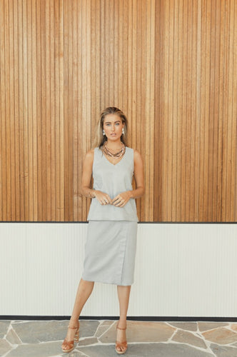 Kutha Grey Straight Skirt