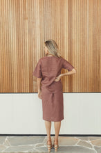 Load image into Gallery viewer, Kutha Straight Skirt in Ochre