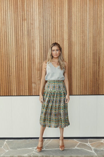 Pundara Skirt in Pathways Print