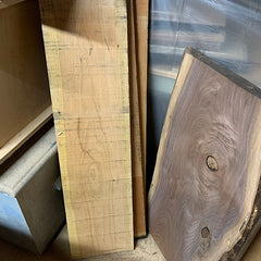 Raw boards from sawmill