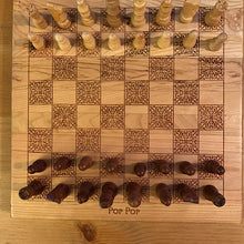 Load image into Gallery viewer, Custom 12 x 12 inch Wooden Chess Boards