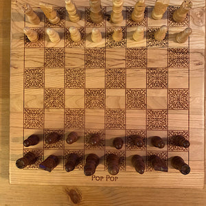 Custom 12 x 12 inch Wooden Chess Boards