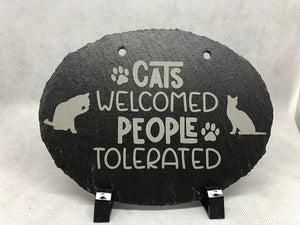 Custom Slate Signs - Oval