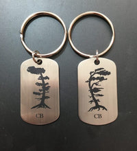 Load image into Gallery viewer, Laser Engraved Stainless Steel Key Chains