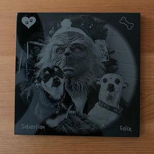 Laser Engraved Granite Pet Memorials