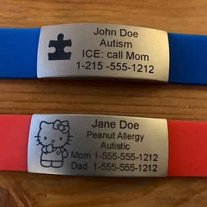Emergency ID Bracelets