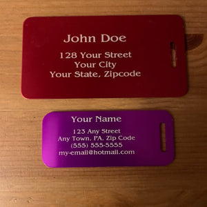 Laser Engraved Luggage Tags