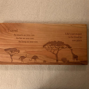 Custom Made World Travel Board