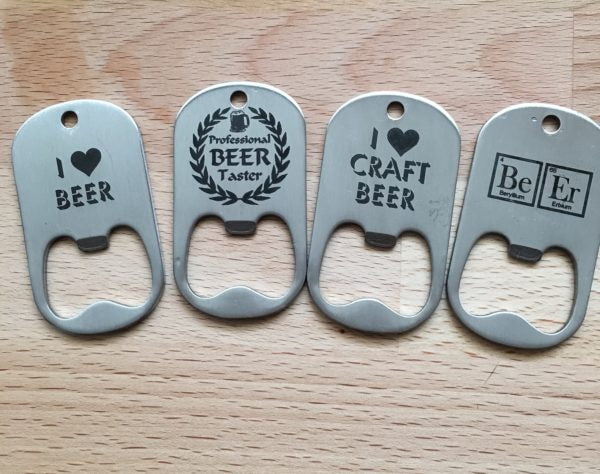 Laser Engraved Stainless Steel Bottle Openers