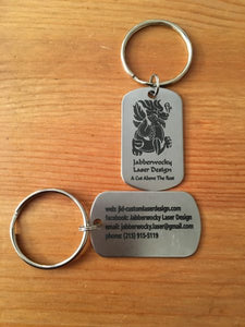 Laser Engraved Stainless Steel Key Chains