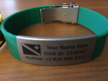 Load image into Gallery viewer, Scuba Diver Emergency ID Bracelets