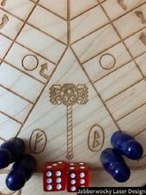 Load image into Gallery viewer, 6 player Viking Theme Pachisi Board