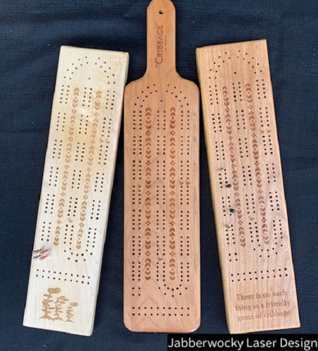 Custom Laser Engraved Cribbage Board