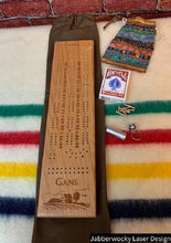 Load image into Gallery viewer, Custom Laser Engraved Cribbage Board