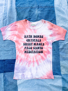 Tie Dye Self-Care Sunday Tee Shirt - My Best Vintage Life Podcast
