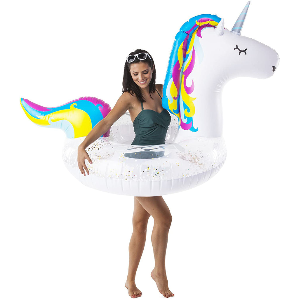 Giant Sparkling Unicorn Pool Float