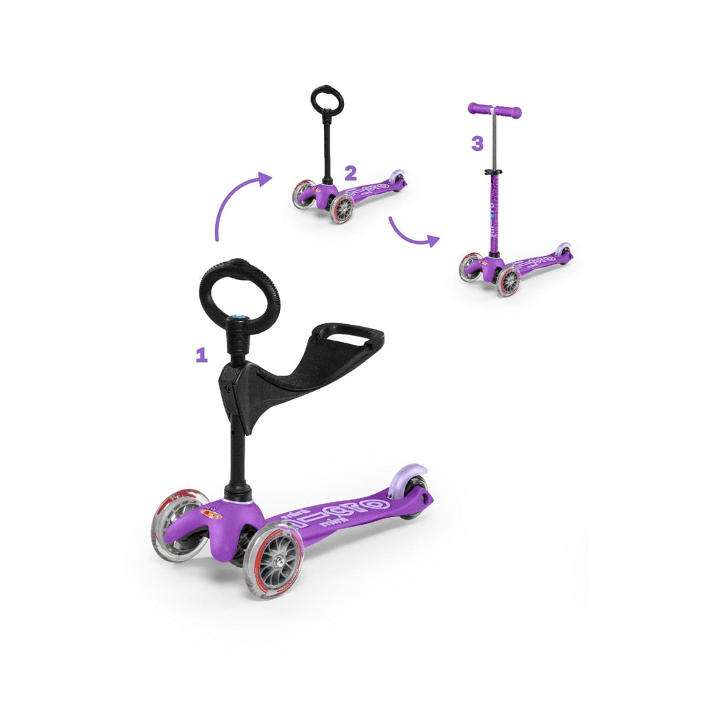 Purple Mini 3in1 Deluxe Scooter