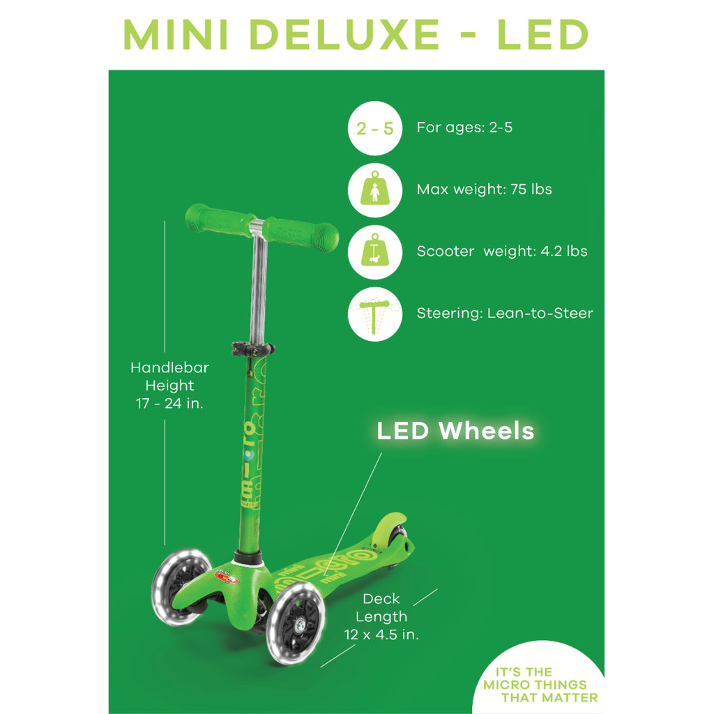 Aqua Mini Deluxe LED Scooter