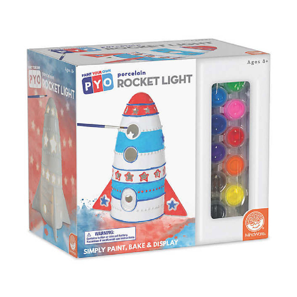 Paint Your Own Porcelain Light: Rocket