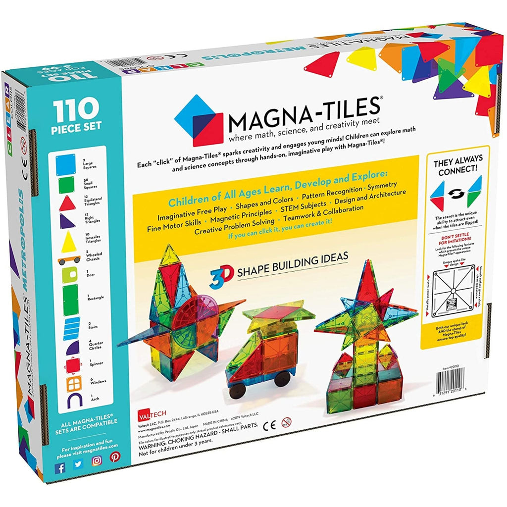 Magna-Tiles Metropolis 110-Piece Set