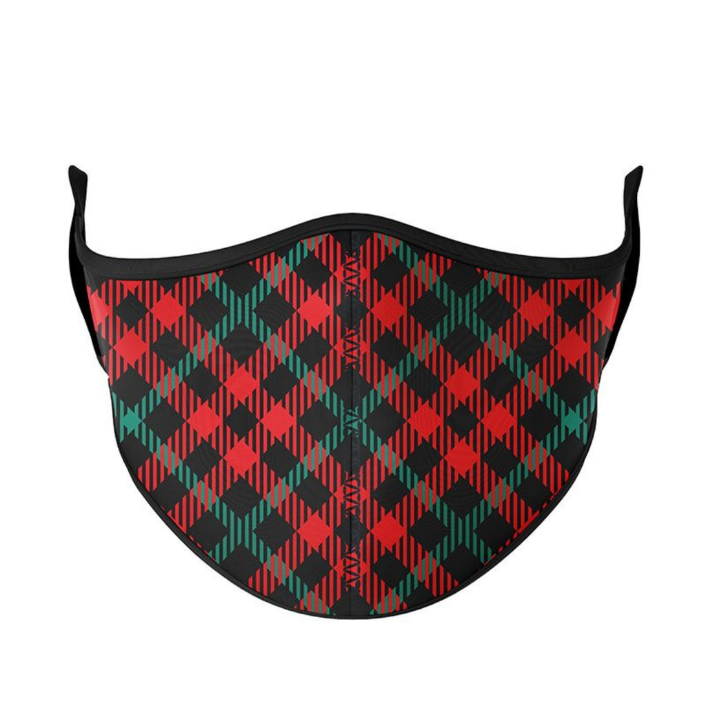 Medium Red Plaid Reusable Face Mask (One Size Fits Most / Ages 8+)