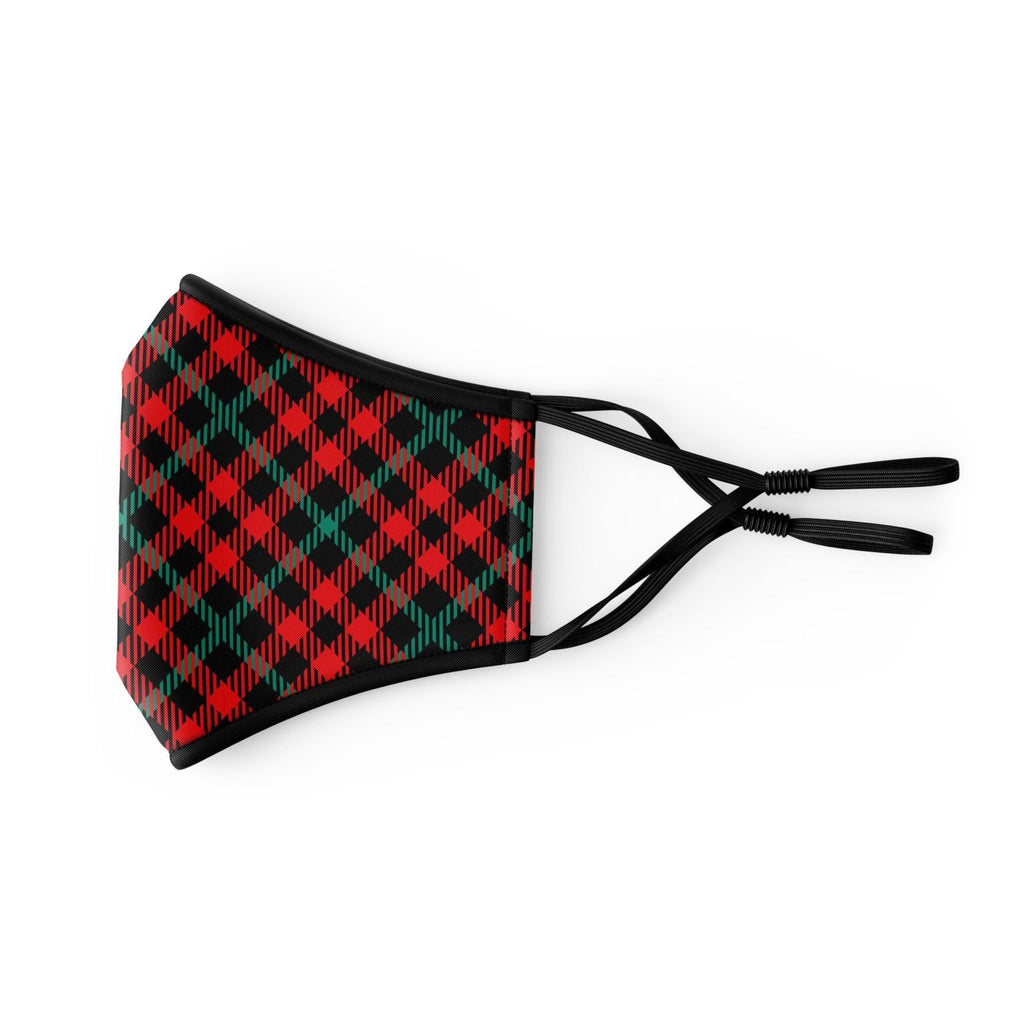 Small Red Plaid Reusable Face Mask (Children/Ages 3-7)