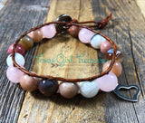 Love and Relationships leather diffuser bracelet