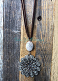 Medal Medallion Pendant diffuser necklace