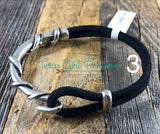 Leather cuff bracelet -twisted