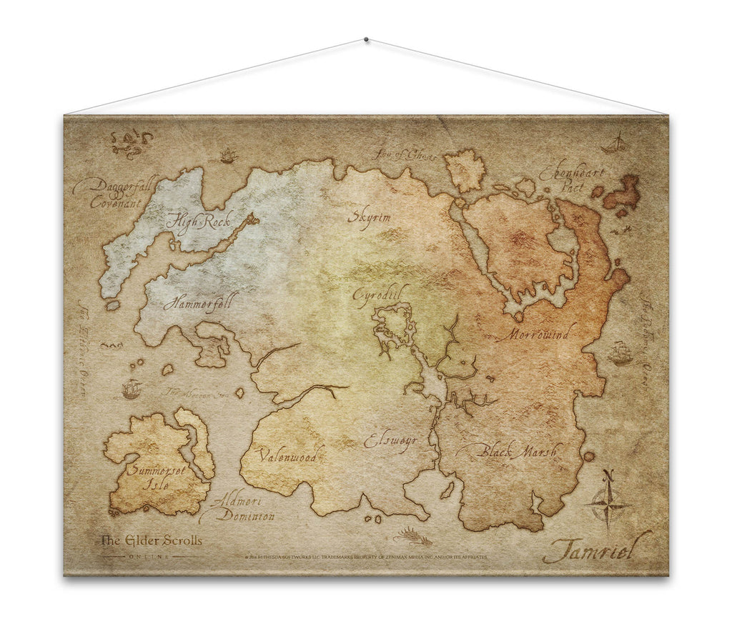 The Elder Scrolls Online Map Wall Scroll