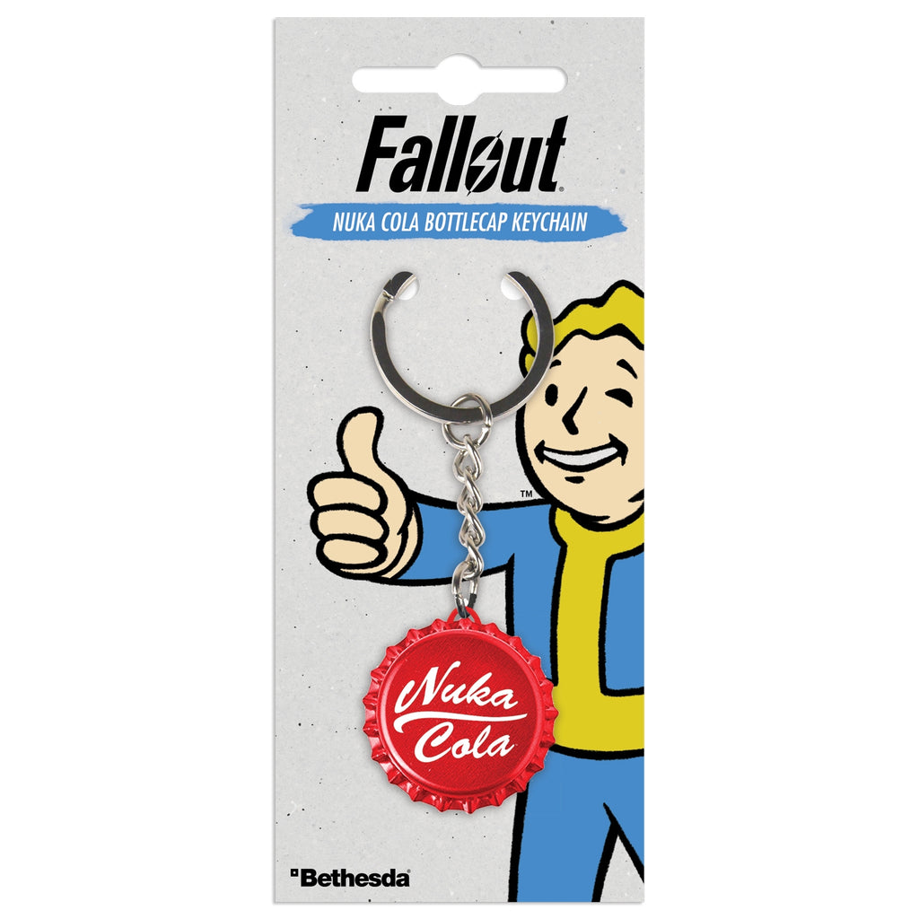 Fallout Nuka Cola Bottlecap Key Ring