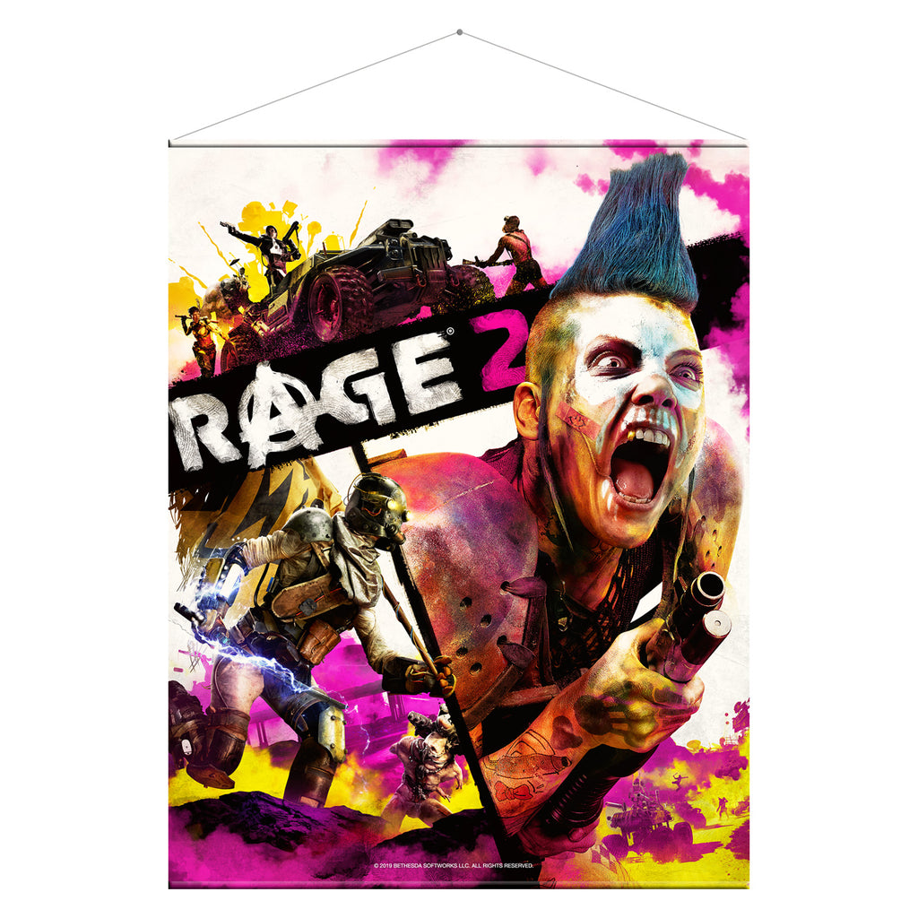 Rage 2 Key Art Wallscroll