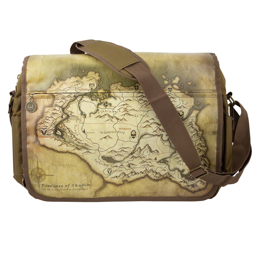 Skyrim Map Messenger Bag – MerchandiseMonkey ec8699e38828a