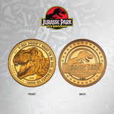 Jurassic Park T-Rex Collectible Coin Gold Edition