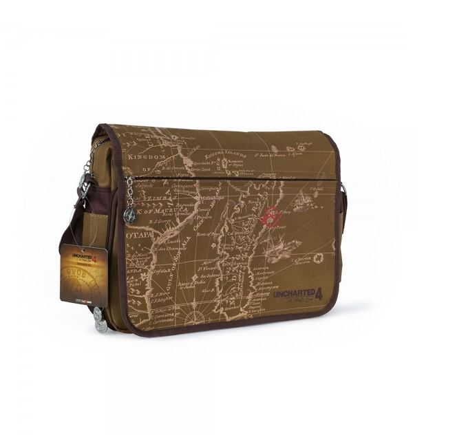 Uncharted 4 Map Messenger Bag