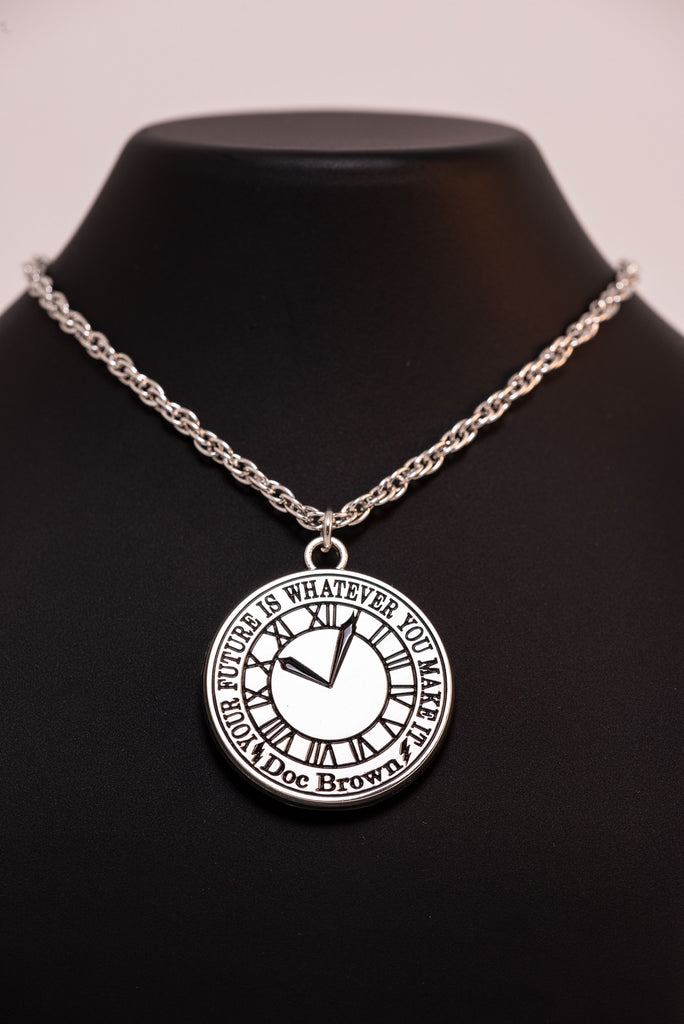 Back to the Future Clock Face Limited Edition Necklace