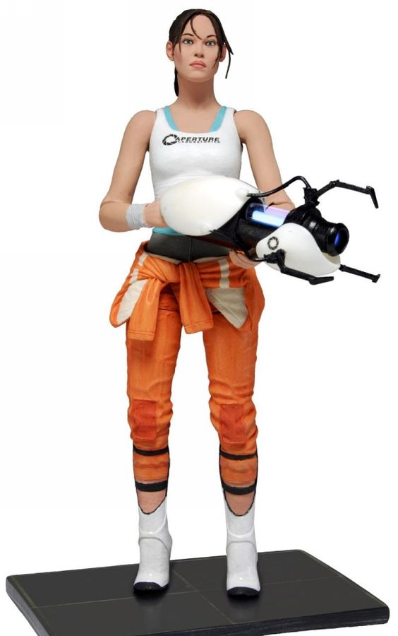 "Portal 2 Chell w/ Light up ASHPD Accessory 7"" Figure"